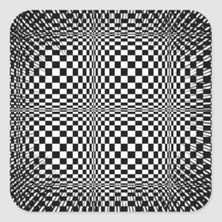 Psychodelic hypnotic efect square sticker