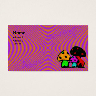 psychodelic mushroom card