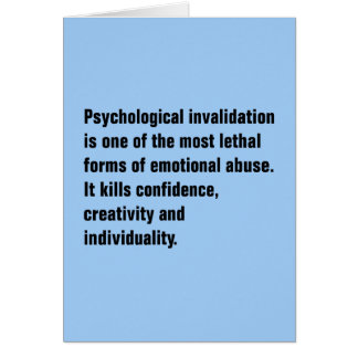 Psychological Invalidation Is One of the Most … Card