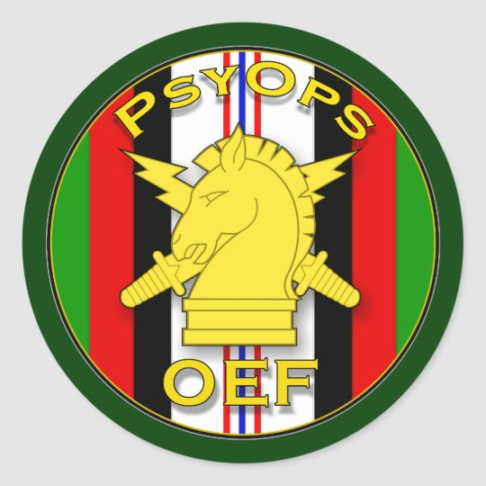 Psychological Operations OEF - Afghanistan Classic Round Sticker