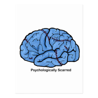 Psychologically Scarred Postcard