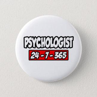 Psychologist 24-7-365 pinback button
