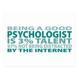 Psychologist 3% Talent Postcard