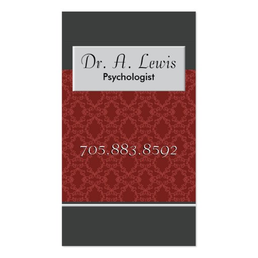 Psychologist and Medical Business Card - Monogram