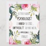 Psychologist Appreciation Thank you Farewell Gift Card