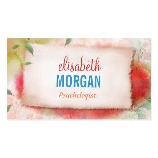 Psychologist - Artistry Watercolor Floral Business Card