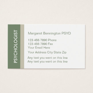 Clinical Psychology Business Cards Templates Zazzle