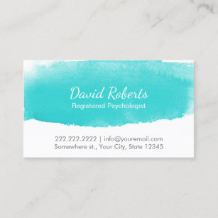 Counseling business cards templates zazzle psychologist counselor watercolor appointment colourmoves