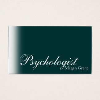 Psychologist Doctor Business Card Simle Teal White