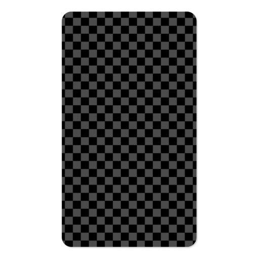 Psychologist - Elegant Black Checkered Business Card Template (back side)