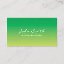 Psychologist Elegant Green & Yellow Healing Spa Business Card