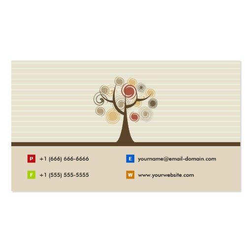 Psychologist - Elegant Natural Theme Business Card (back side)