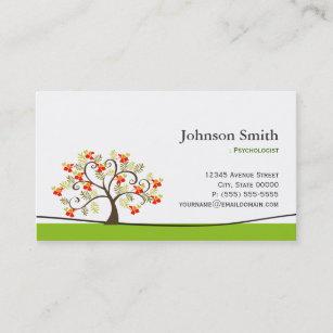 Psychologist business cards zazzle psychologist elegant swirl wish tree symbol business card colourmoves