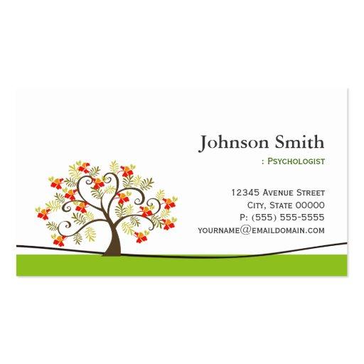 Psychologist - Elegant Swirl Wish Tree Symbol Business Card