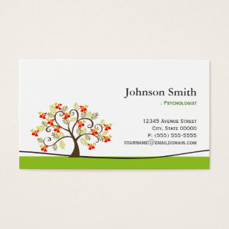 Psychologist - Elegant Swirl Wish Tree Symbol Business Card