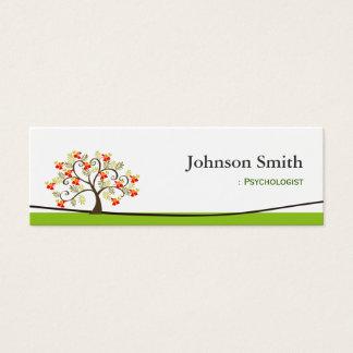Psychologist - Elegant Swirl Wish Tree Symbol Mini Business Card