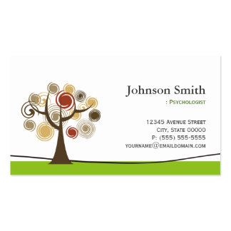 Psychologist - Elegant Tree of Life Symbol Business Card