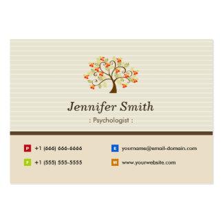 Psychologist - Elegant Tree Symbol Large Business Card