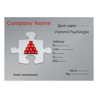 Psychologist jigsaw puzzle business card...