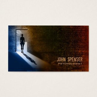 Psychologist Man In The Shadow Business Card