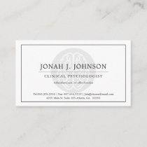 Psychologist Mental Health  Professional | Brain Business Card