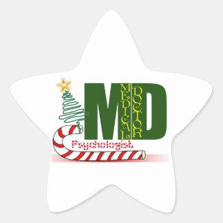 Psychologist MERRY CHRISTMAS Star Sticker