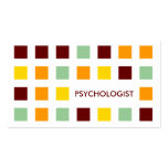 PSYCHOLOGIST (mod squares) Double-Sided Standard Business Cards (Pack Of 100)
