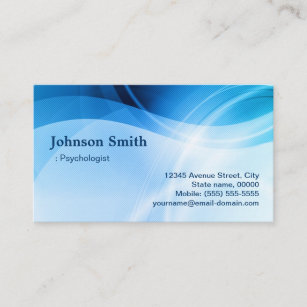 Psychologist business cards zazzle psychologist modern blue creative business card colourmoves