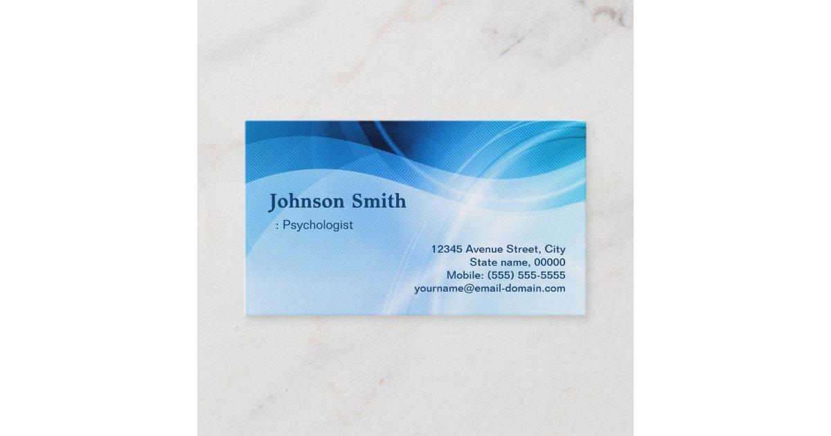 Psychologist - Modern Blue Creative Business Card | Zazzle.com