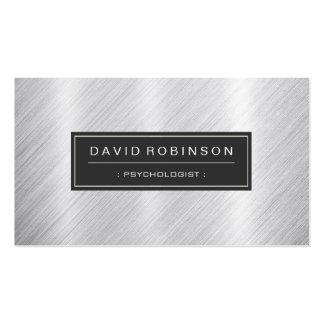 Psychologist - Modern Brushed Metal Look Business Card