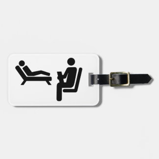 Psychologist patient luggage tag