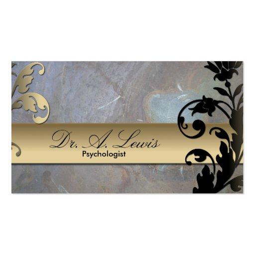 Psychologist & Psychiatrist Business Card - Floral