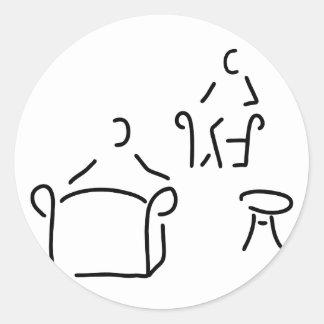 psychologist psychotherapeut psychotherapie classic round sticker