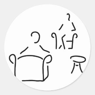 psychologist psychotherapeutin psychotherapie classic round sticker