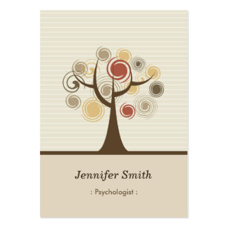 Psychologist - Stylish Natural Theme Large Business Cards (Pack Of 100)