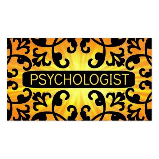 Psychologist Sunshine Damask Business Card