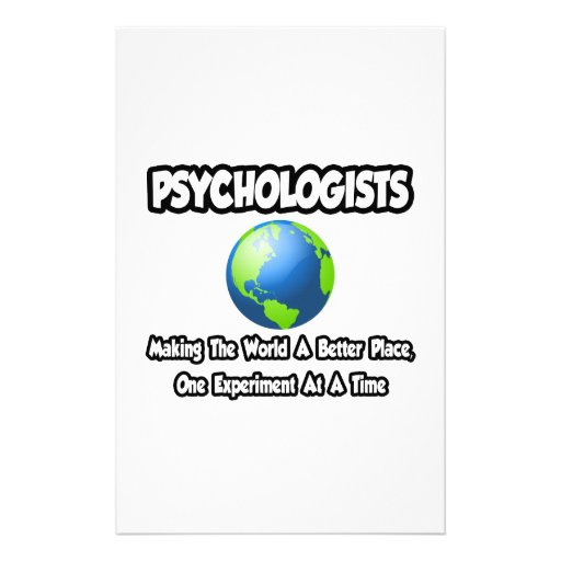 Psychologists...Making the World a Better Place Custom Stationery