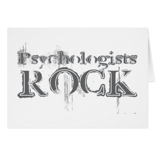 Psychologists Rock Greeting Card