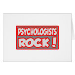 Psychologists Rock! Greeting Card