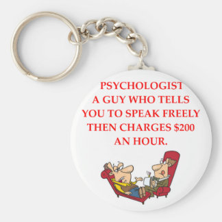 PSYCHOLOGY BASIC ROUND BUTTON KEYCHAIN