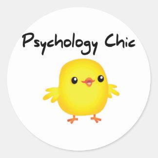 Psychology Chic Classic Round Sticker