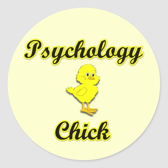 Psychology Chick Classic Round Sticker