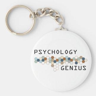 Psychology Genius Basic Round Button Keychain