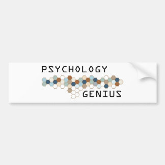 Psychology Genius Bumper Sticker