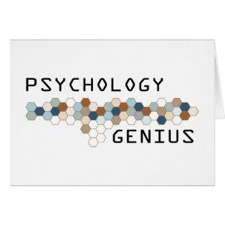 Psychology Genius Greeting Card