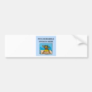psychology joke bumper sticker