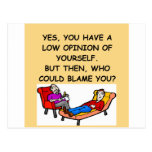 PSYCHology joke Postcard
