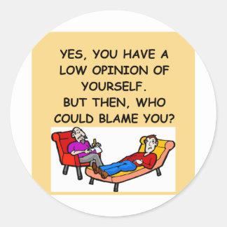 PSYCHology joke Round Stickers