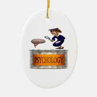 Psychology Double-Sided Oval Ceramic Christmas Ornament