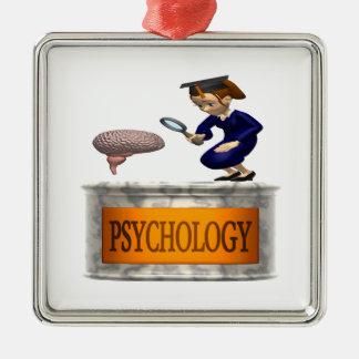 Psychology Square Metal Christmas Ornament